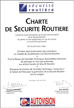 Charte de Sécurité Routière
